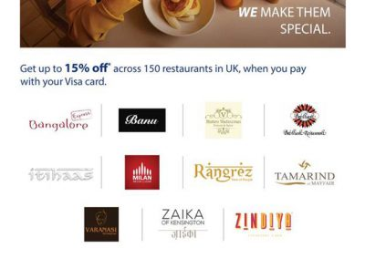 Discount on 150 UK Resaurants